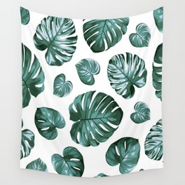 Monstera Philodendron Split Leaves Wall Tapestry
