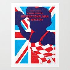 No373 My Austin Powers I minimal movie poster Art Print