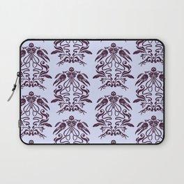 Raven Damask -- Black/Lavender Laptop Sleeve