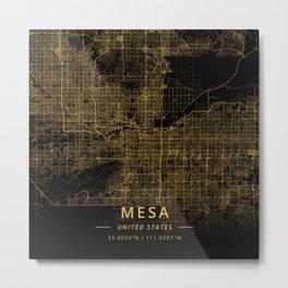 Mesa, United States - Gold Metal Print