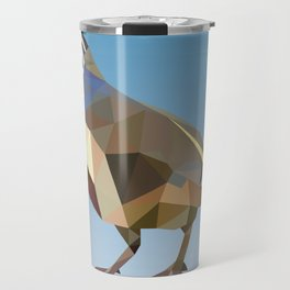 Geometric Quail Travel Mug