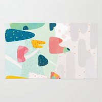 rocky Area & Throw Rugs featuring Rocky Road by Brigitte Huynh