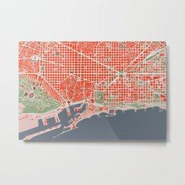 Barcelona city map classic Metal Print