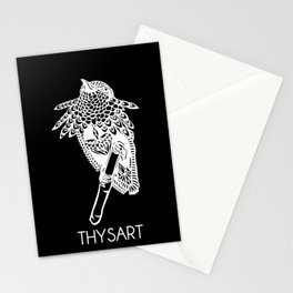 Hummingbird on branch Stationery Cards