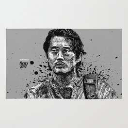 Glenn Rhee from The Walking Dead as played by Steven Yeun Rug