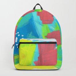 Abstract Modern - BE BRAVE, BE OK - Beach Ocean Blue Summer Tropical Backpack
