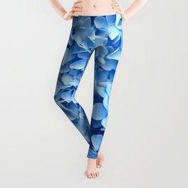 BABY BLUE HYDRANGEAS FLORAL ART Leggings