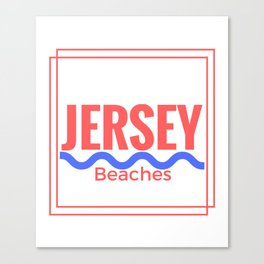Jersey Beaches Graphic Canvas Print