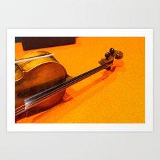 Violin on the Floor Art Print