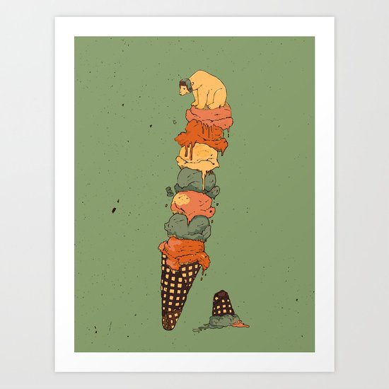 The Arctic Ice Cream Art Print