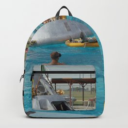 Apollo 1 - Relaxing by the Swimming Pool Backpack