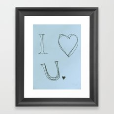 I Heart You, Baby Framed Art Print