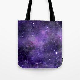 Purple Watercolor Space Pattern Tote Bag