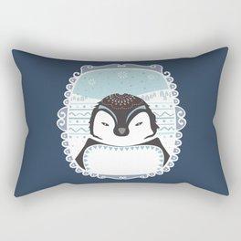 Messer Pinguino Rectangular Pillow