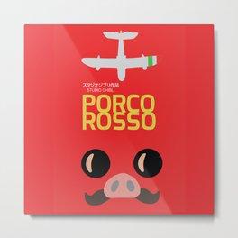 Porco Rosso - Miyazaki Movie Poster - Studio Ghibli Metal Print