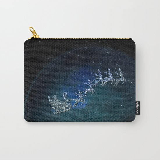 Santa on his Glitter way Carry-All Pouch