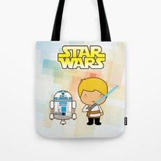 Luke Skywalker and R2D2 Tote Bag
