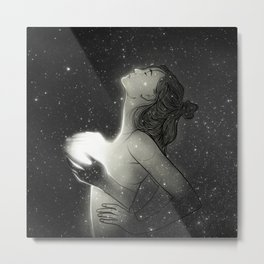 You bring the light to my darkness. Metal Print