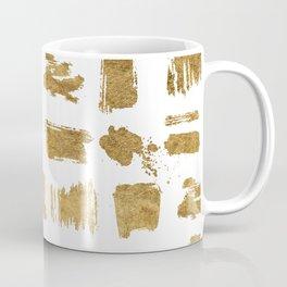 Elegant modern chic gold artsy brushstrokes Coffee Mug
