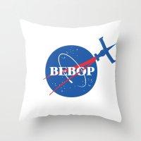 nasa Throw Pillows featuring Bebop Nasa by AngoldArts