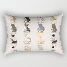 Cats Breed Rectangular Pillow