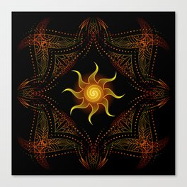 sun energy. part one Canvas Print