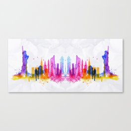 Color New York Skyline 03 Canvas Print