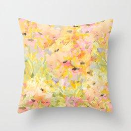 Buttercup Fields Forever Throw Pillow