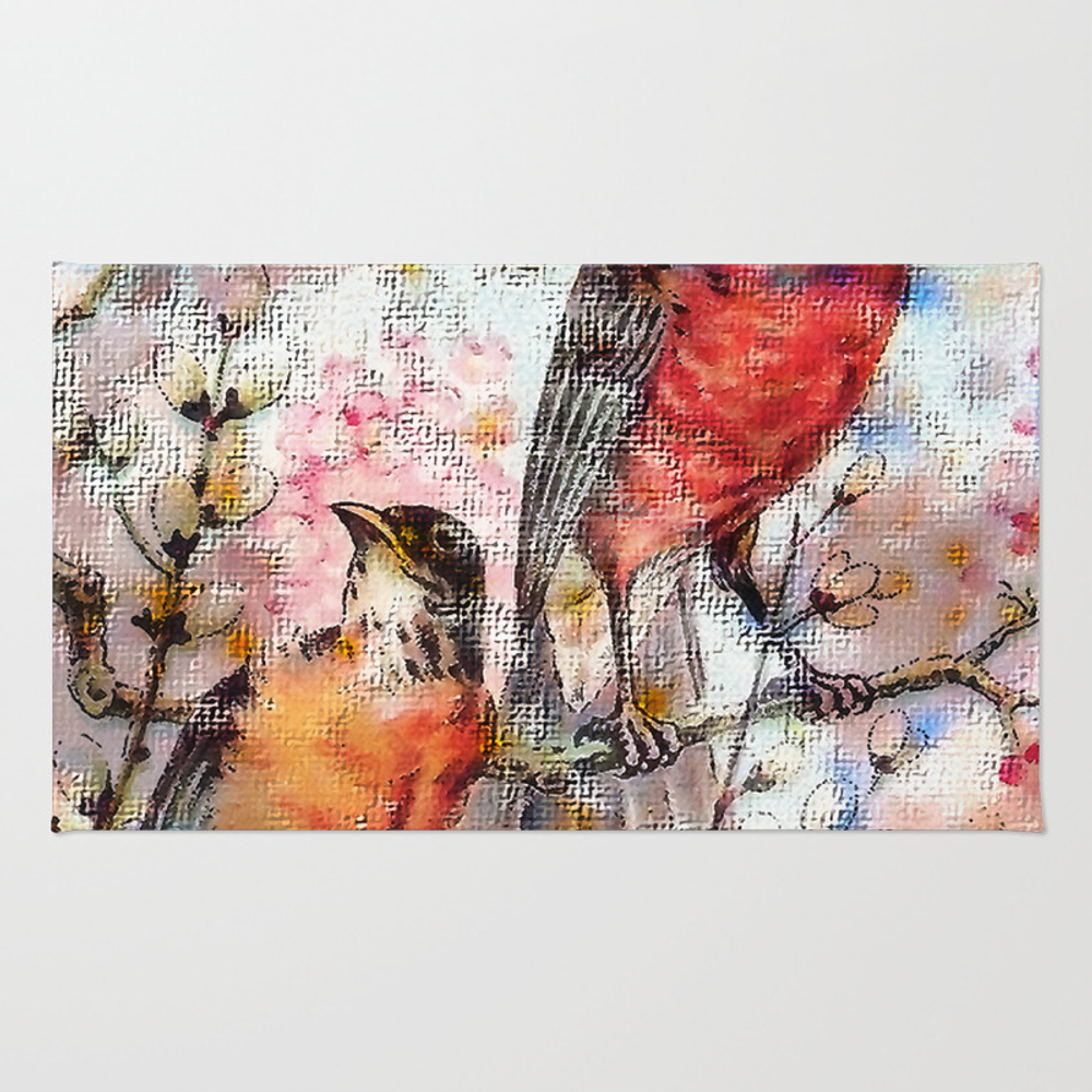 A Robin Redbreast Morning Rug by Tammera (RUG9496762) photo