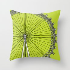 London Town - The Eye Throw Pillow