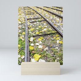 Park in the center of Turin in the autumn Mini Art Print