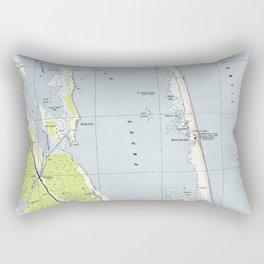 Vintage Northern Outer Banks Map (1940) Rectangular Pillow