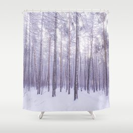 Snow in Trees Shower Curtain