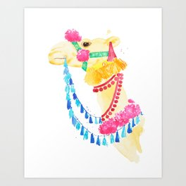 Marrakesh Camel Art Print