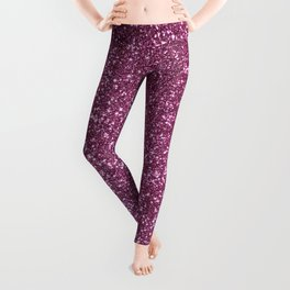 Pink Lavender Glitter with Silvery Highlights Leggings