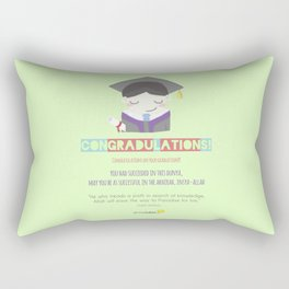 Congradulations! (Male) Rectangular Pillow