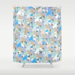 Hopscotch Algorithm (blue) Shower Curtain