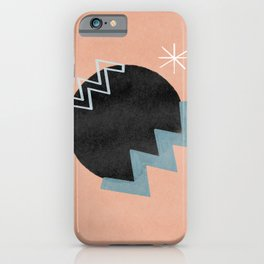 Star and vibrations on a black hole - minimalist design iPhone Case