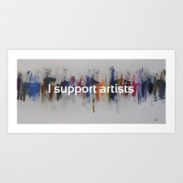 I Support Artists Mug and Notebook Art Print