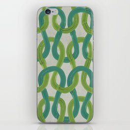 KNIT WIT LEAF with Concrete backround iPhone Skin