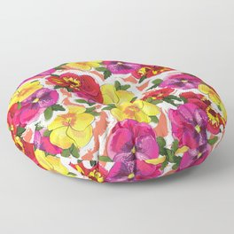 the pansy Floor Pillow