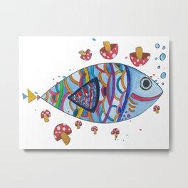 Mush-Fish Metal Print
