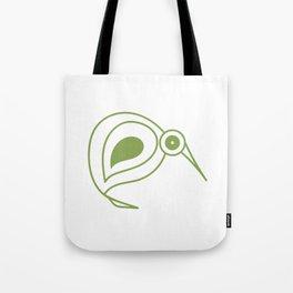Green kiwi bird from New Zealand artist Tote Bag