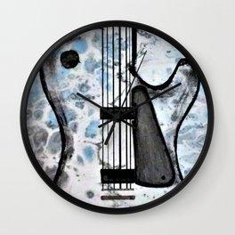 Guitar Art. Abstract Guitar. Rock and Roll. Gibson Guitar. Wall Clock