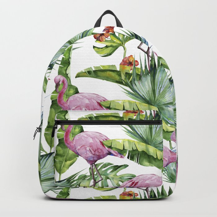 Flamingo Jungle #society6 #buyart Backpack