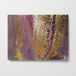 Purple foam Metal Print