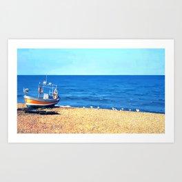 Grace on the Beach Art Print