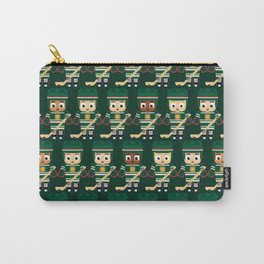 Super cute sports stars - Ice Hockey Green Carry-All Pouch