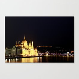 The lights of the city Canvas Print