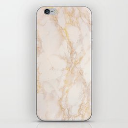 Gold Marble Natural Stone Gold Metallic Veining Beige Quartz iPhone Skin